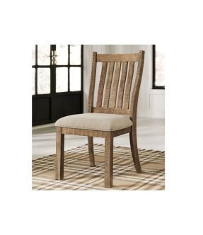 Baldwin Brown Fabric Upholstered Wooden Dining Chair