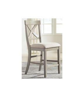 Hobban Fabric Upholstered Wooden Dining Barstool
