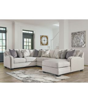 Washington 6 Seater Modular Fabric Sofa with Chaise