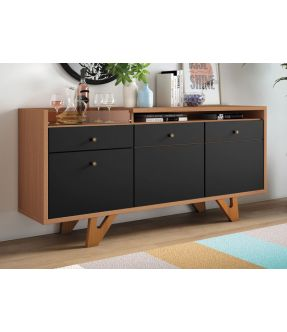 Cheom Wooden Accent Cabinet with 3 Doors