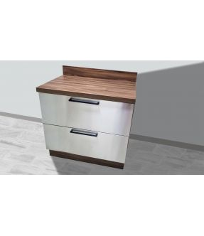 Stainless Steel base kitchen cabinet/cupboard with countertop - Gourmet Grey Flat Pack DIY
