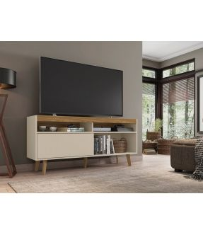 Noah Off White TV Entertainment Unit for 58 Inch TV - Made in Brazil