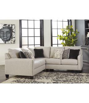 Cheltenham Beige 4 Seater Fabric Modular Corner Lounge Suite