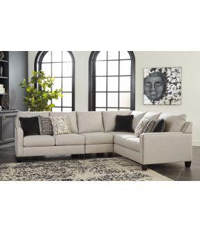 Cheltenham Beige 5 Seater Fabric Modular Corner Lounge Suite