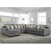 Abraham 7 Seater Modular Fabric Lounge Suite with Chaise