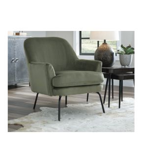 Alford Green Fabric Accent Chair