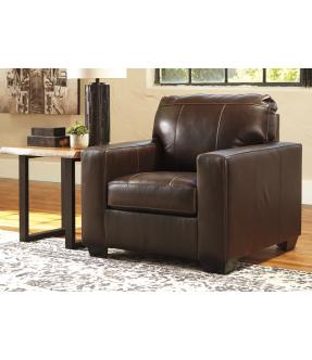 Genuine Leather Armchair 1 Seater Brown Sofa - Coburg