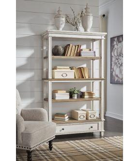 Caroline Wooden Bookcase with 4 Shelves
