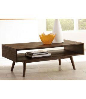 Murray Minimalist Style Rectangular Wooden Coffee Table