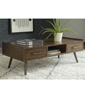Bundoora Rectangular Wooden Coffee Table with Drawers