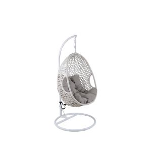 Manor White Hanging Egg Chair