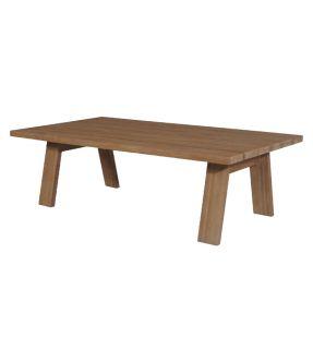 Bow Wooden Rectangular Outdoor Table