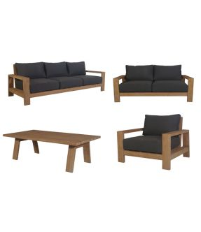 Bow Outdoor Fabric Upholstery Lounge Suite