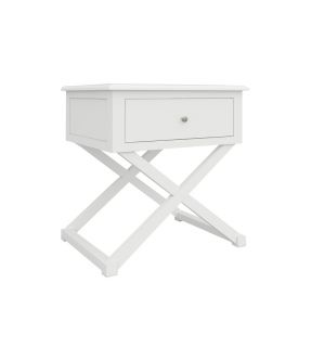 Bickley Wooden Side Table with Cross Legs