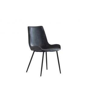Grove Grey Vintage Leather Upholstered Dining Chair
