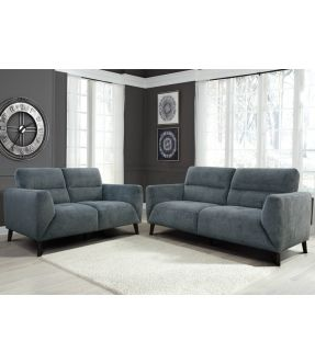West Ham Charcoal Fabric  Lounge Suite Set (2 Seater + 3 Seater )