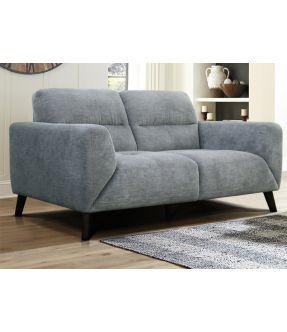 West Ham Light Grey Fabric Upholstery 2 Seater Sofa