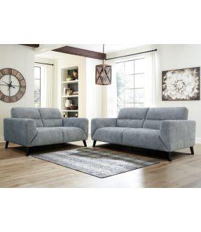 West Ham Light Grey Fabric Lounge Suite Set (2 Seater + 3 Seater )