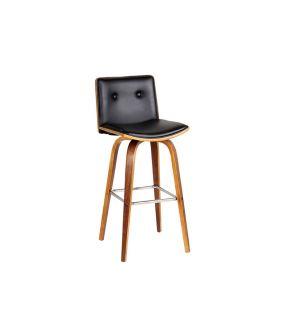 Loko PU Leather and Wood Bar Chairs