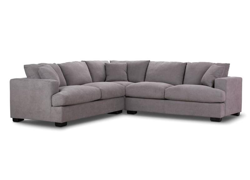 5 Seater L Shape Fabric Modular Corner Lounge - Barnes