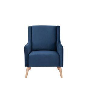 Bexley Navy Fabric Upholstery Armchair