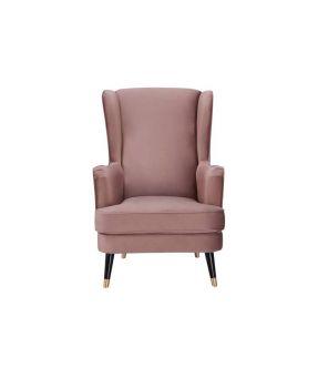 City Blush Fabric Upholstery Armchair