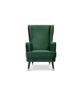 City Green Fabric Upholstery Armchair