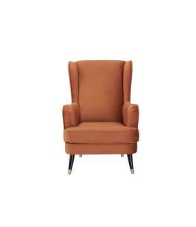 City Cinnamon Fabric Upholstery Armchair