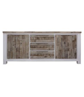 Wooden Accent Cabinet White with 3 Drawers - Sunbury