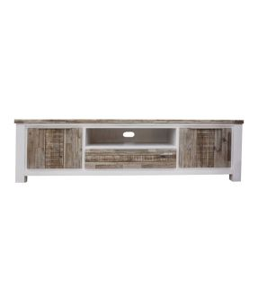 Wooden Entertainment Unit White - 85 inch TV - Sunbury