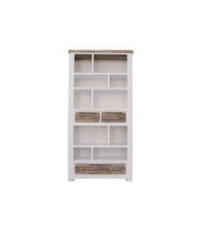 Hampstead Solid Wooden Bookcase with 3 Drawer