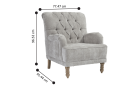 River Fabric Accent Chair with Diamond Tufted Back