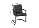 Cardinia Charcoal Tufted Faux leather Armchair