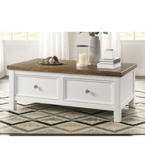 Merri Rectangular Coffee Table with 2 Drawers