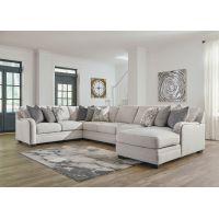 Washington 7 Seater Modular Fabric Sofa with Chaise
