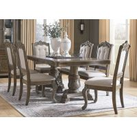 Uki Rectangular Dining Table Set with 6 Wooden Chairs