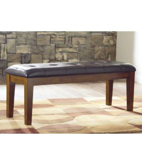 Natasia Faux Leather Upholstered Dining Bench