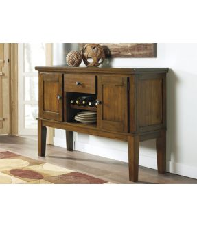 Natasia Wooden Accent Cabinet with Wine Rack