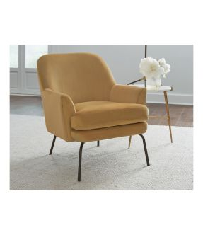 Alford Gold Fabric Accent Chair