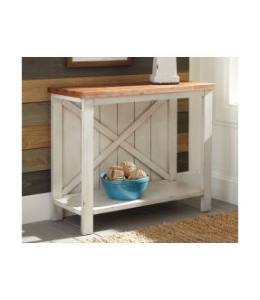 Bakers Wooden Console Table with open shelf