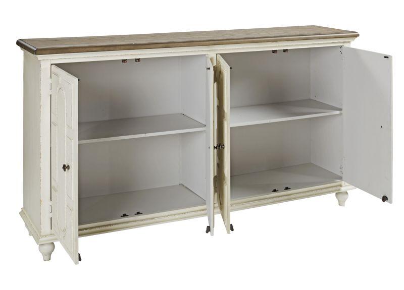 Bundoora Wooden Accent Cabinet with 4 Doors