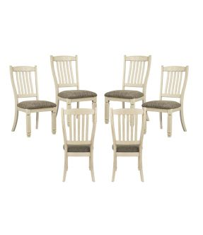 Watsonia Fabric Upholstered Wooden 6 Dining Chair