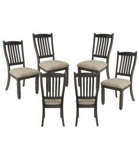 Tracy Fabric Upholstered Wooden 6 Dining Chair