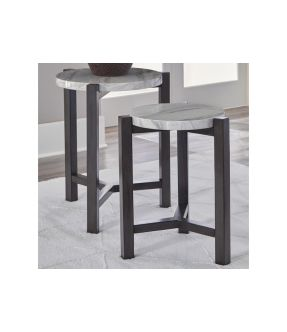 Agnes 2 Piece Round  Wooden Coffee & Side Table Set