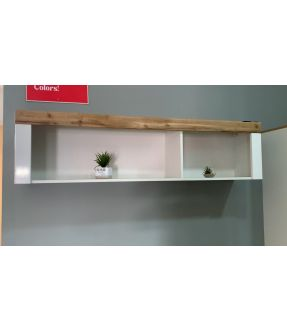 Parkville White Wall Shelf with 2 Storage Separation