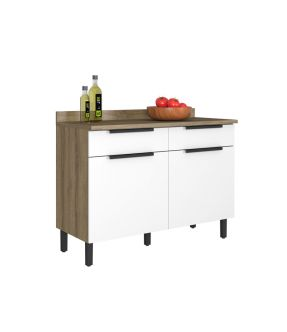 Itamaxi Kitchen Cabinet  2 Doors With Wooden Top