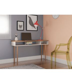 Burnley Home Office Desk with Open Shelf and Storage