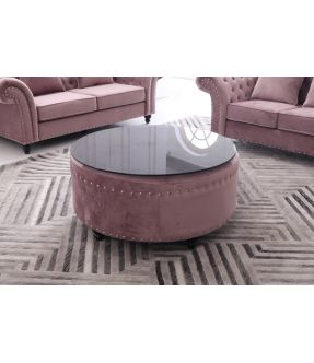 St Kilda Chesterfield Style Fabric Big Coffee Table
