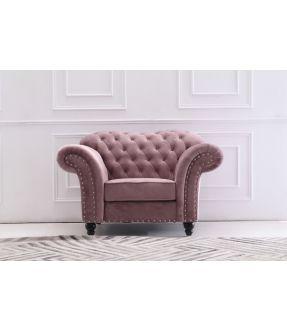 St Kilda Chesterfield Style Fabric Armchair