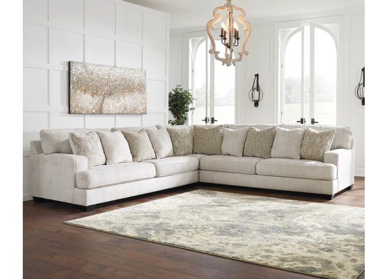 7 Seater L Shape Fabric Modular Corner Lounge - Kinglake